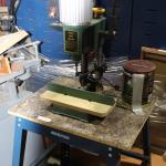 Craftex Hollow Chizel Morticer on Mastercraft Table ( Estate )