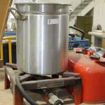 Propane Cooker and aluminum pot /lid