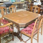 Double pedestal table and 6 chairs