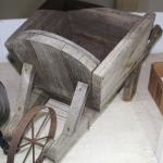 Miniature wooden Wheel Barrel