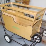 Steel frame wooden wagon