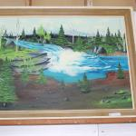 Waterfall painting by H Marchant