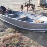 12' aluminum boat with 9.8hp Mercury