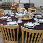Maple Table and Chairs shown with Christmas setting