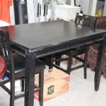Black Table and 2 chairs