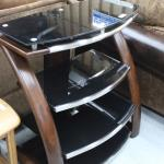 Glass and Mahogany Stand