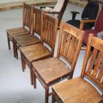 5 smaller oak chairs