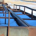 40' x 5' steel bunks