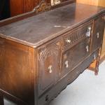 Antique Hardwood Side Board