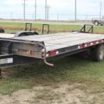 18' Deck Over with beaver tail bumper hitch trailer