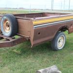 1/2 ton bed trailer / no vin.