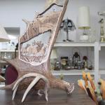 NEW Carved Moose Horn